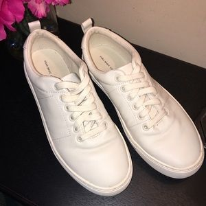 Zara Basic collection white leather sneakers 38-8
